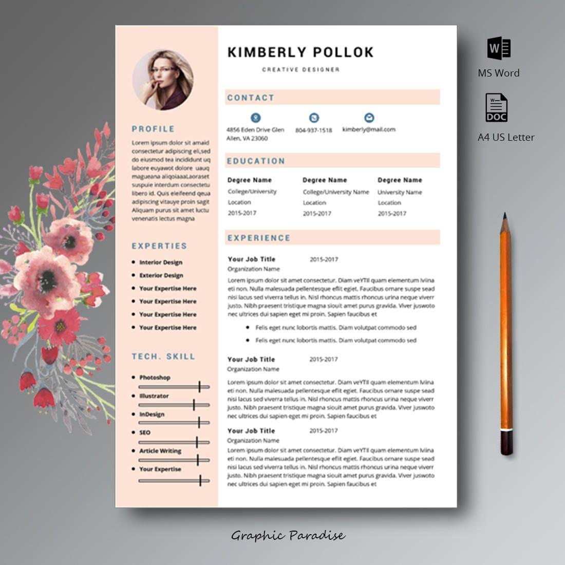 Resume Templates, Professional resume template, resume, CV ...