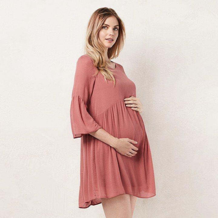 Lauren Conrad Maternity Shirred Shift Dress