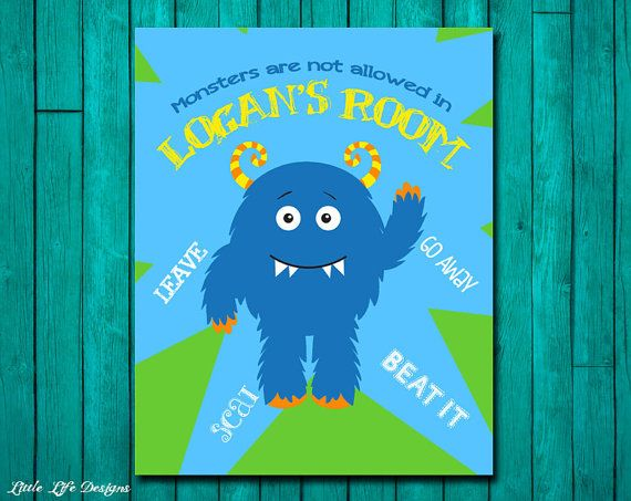 Monsters are not allowed in MY Room. Monster by LittleLifeDesigns, $8.00