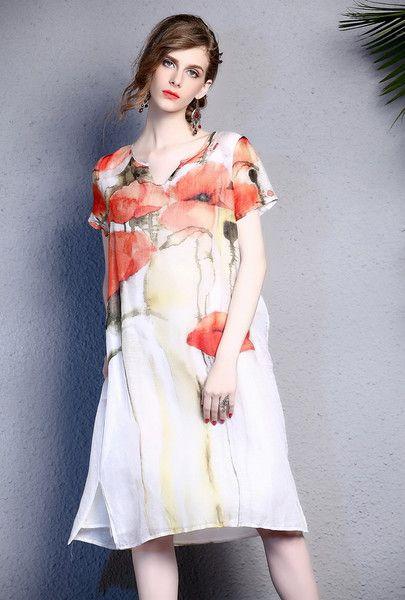 Floral Beach Dress Summer Dress S-XL by Enice from Enice Fashion by DaWanda.com