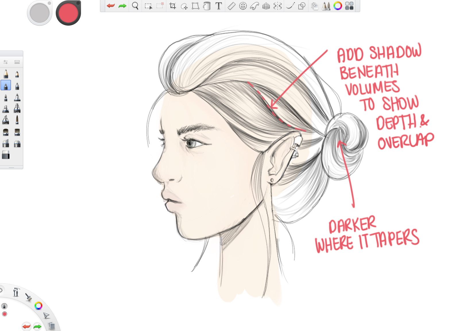 How To Draw Hair In Detail Sketch Book Autodesk Sketchbook
