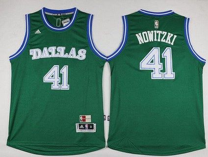 d84cde4d23ab Men s Dallas Mavericks  41 Dirk Nowitzki Revolution 30 Swingman 2015-16 Green  Jersey