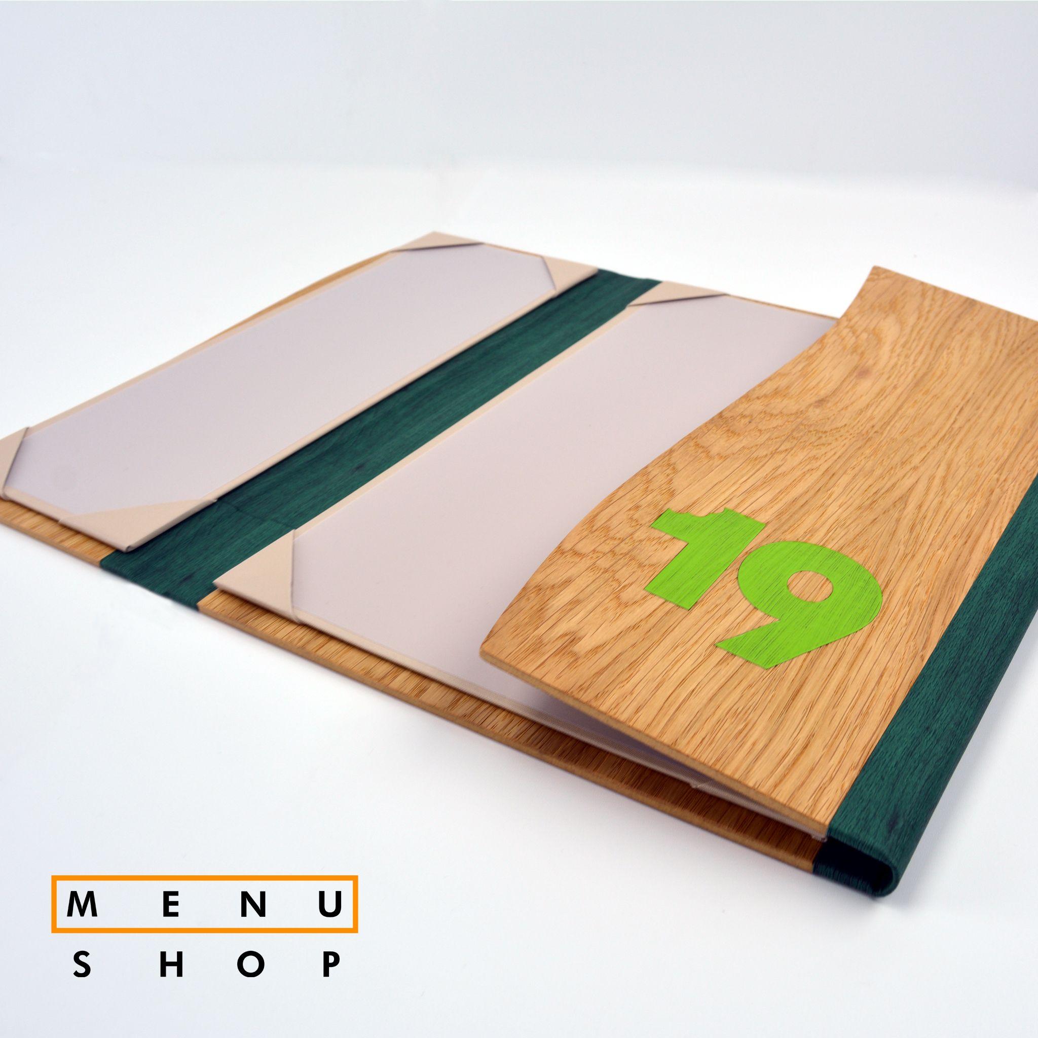 Carta de hostelería plegable en madera para un pub irlandés #carta ...