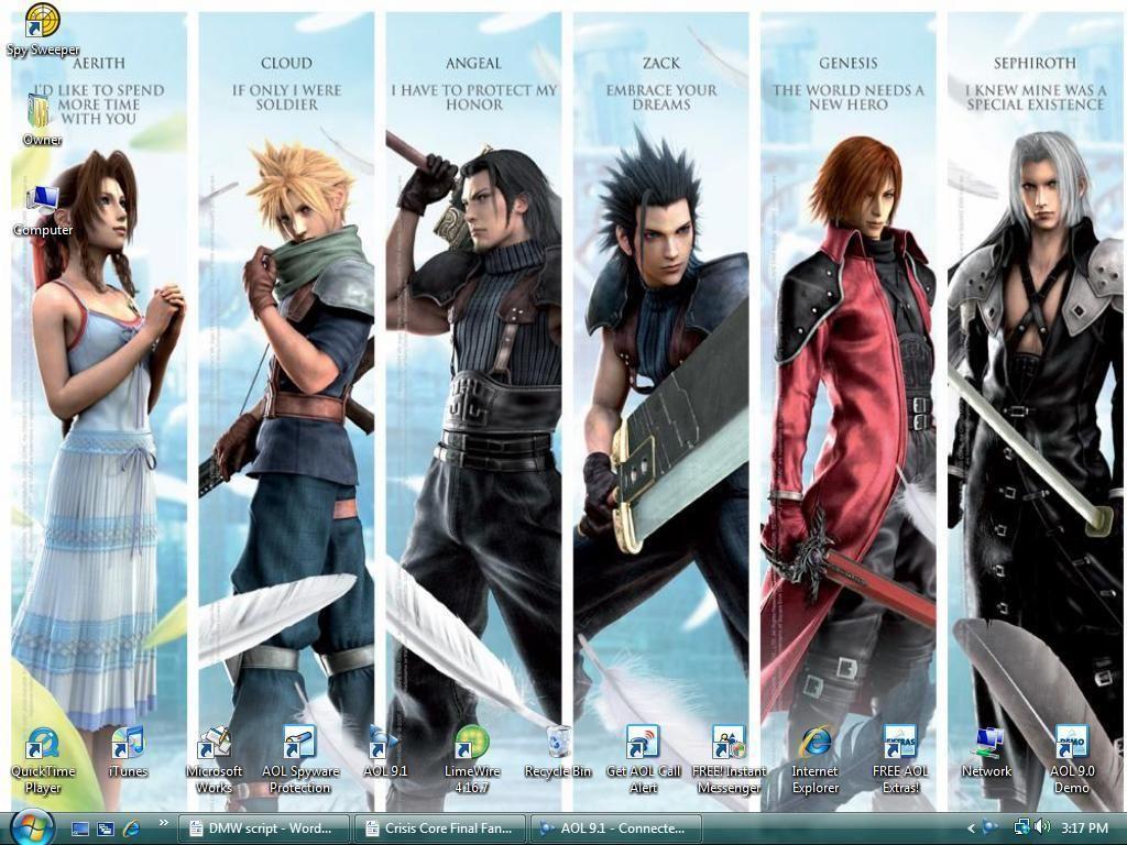 Final Fantasy 7 Crisis Core Final Fantasy Characters Final