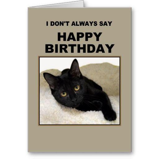 Black Cat Birthday Humor Card Zazzle Com Cat Birthday