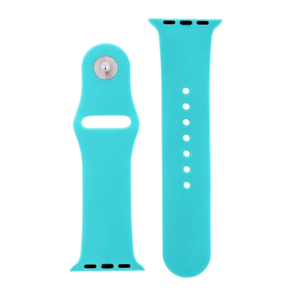 Totally Turquoise Silicone Sports Watch Band 38mm 42mm for