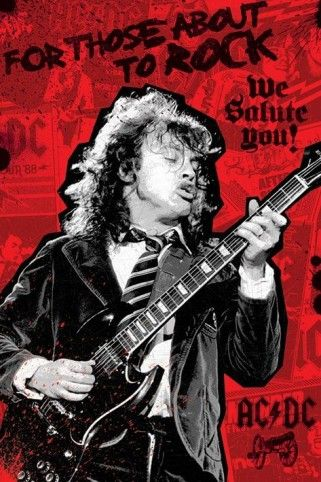 Fast /& Secure Shipping! AC//DC ACDC We Salute You Poster 24x36 Quality Print