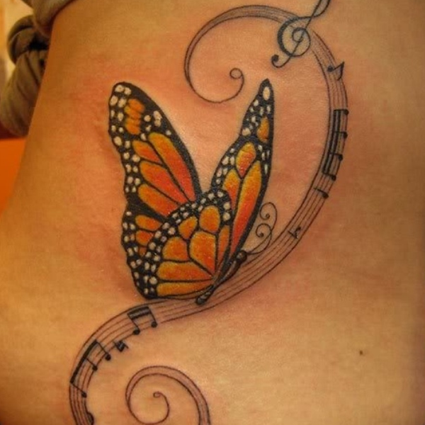 df253584bb0ab 19 Monarch Butterfly Tattoo | ✧✽Tattoo's✽✧ | Music tattoos ...