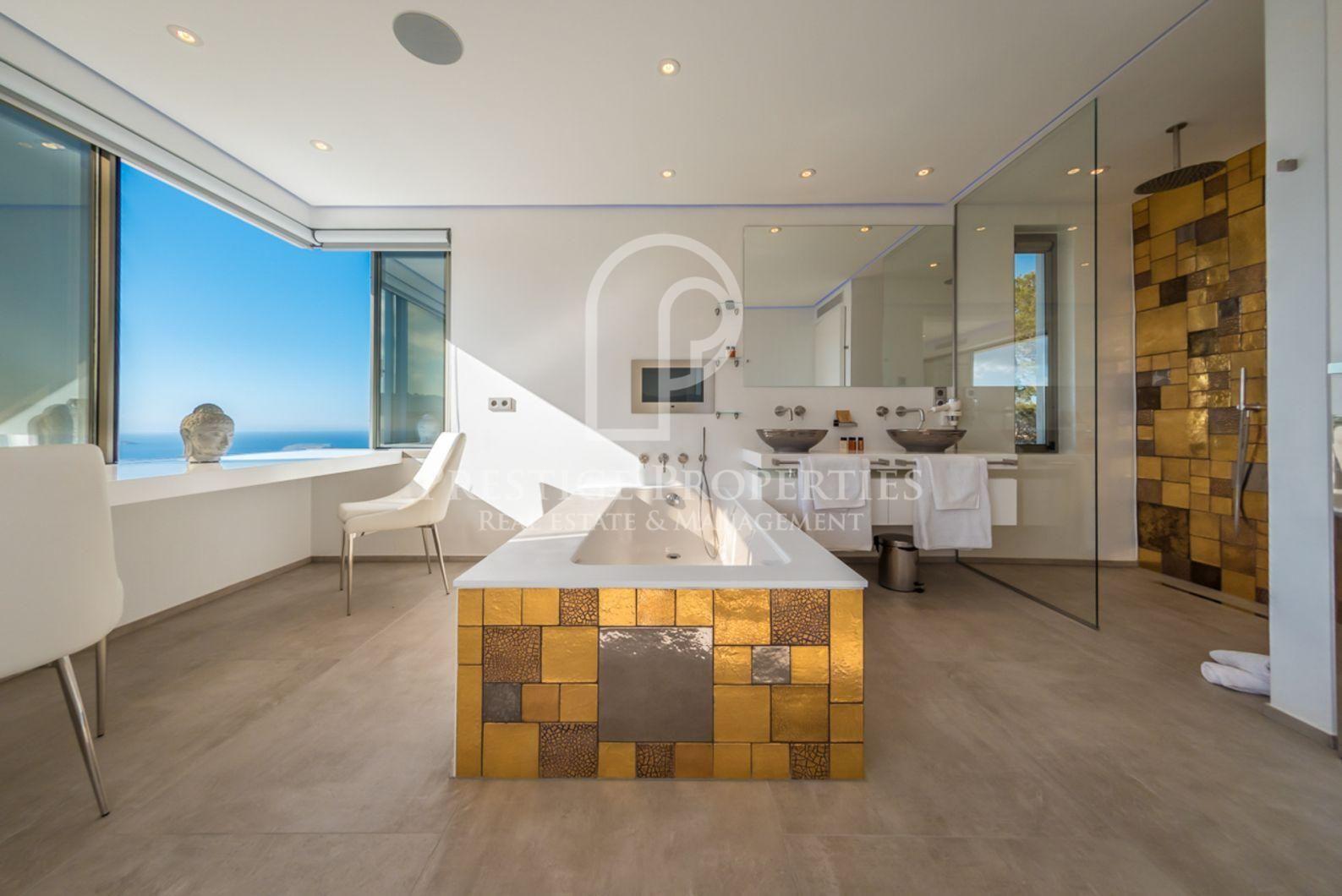 Villa Tokio Casa contemporánea, Sala grande, Baño con ducha