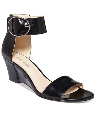 86d69d57b68 Nine West Ventana Ankle Strap Demi Wedge Sandals - apparently these run  narrow because for once my freakishly narrow foot were not swimming in  them. Sold!!