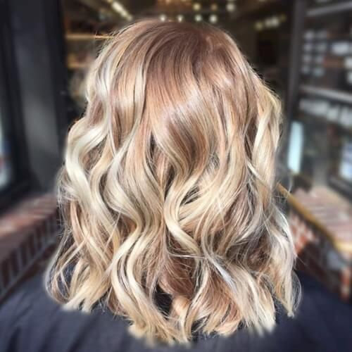 Blonde sombre balayage hair color