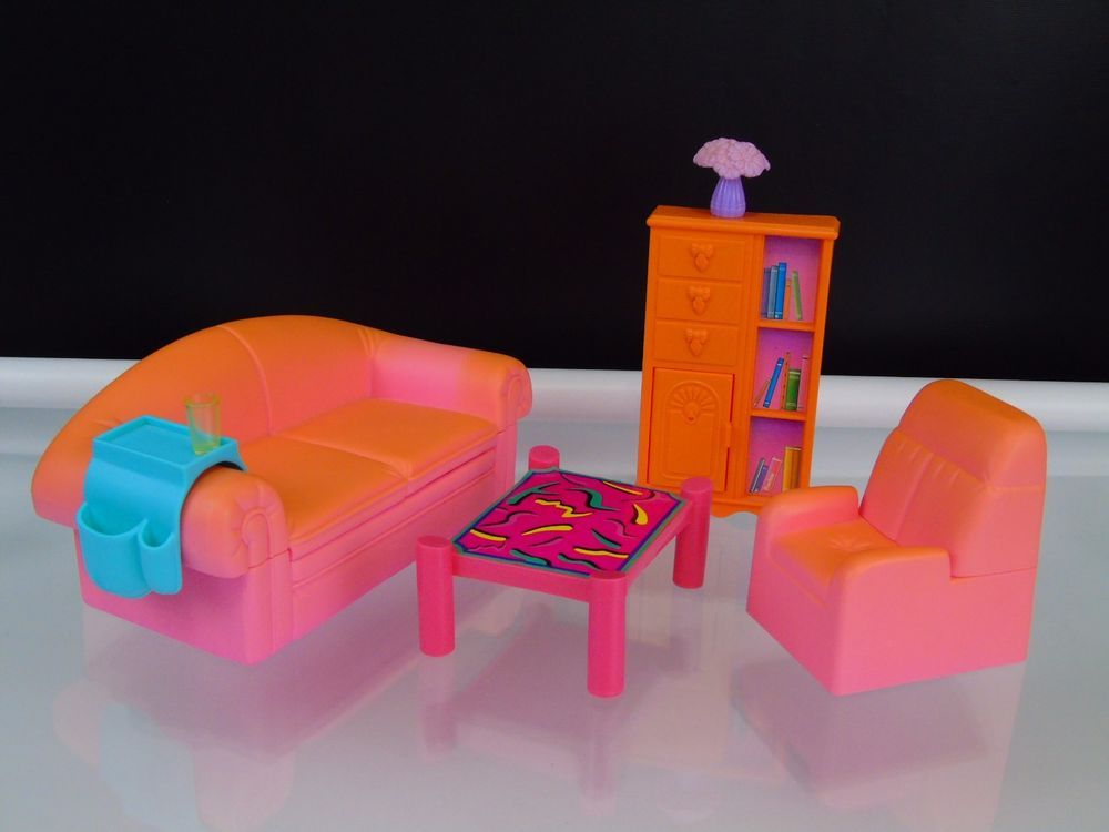 Find This Pin And More On Fun Games Vintage Mattel 1994 Barbie Living Room Furniture