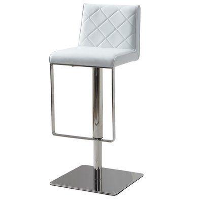 Orren Ellis Mcshane Adjustable Height Bar Stool Stainless Steel Bar Stools Bar Stools Adjustable Bar Stools
