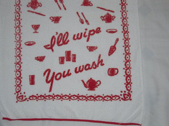 Vintage Cannon Towel I'll Wipe You Wash MWT by unclebunkstrunk, $29.99