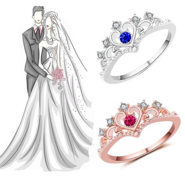 Women Bridal Wedding Jewelry Crystal Rhinestone Rose Gold Plated