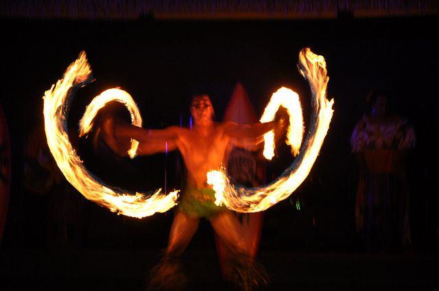 Fire Dancer At Paradise Cove Luau 2 Fire Dancer Paradise Cove Hula Dance