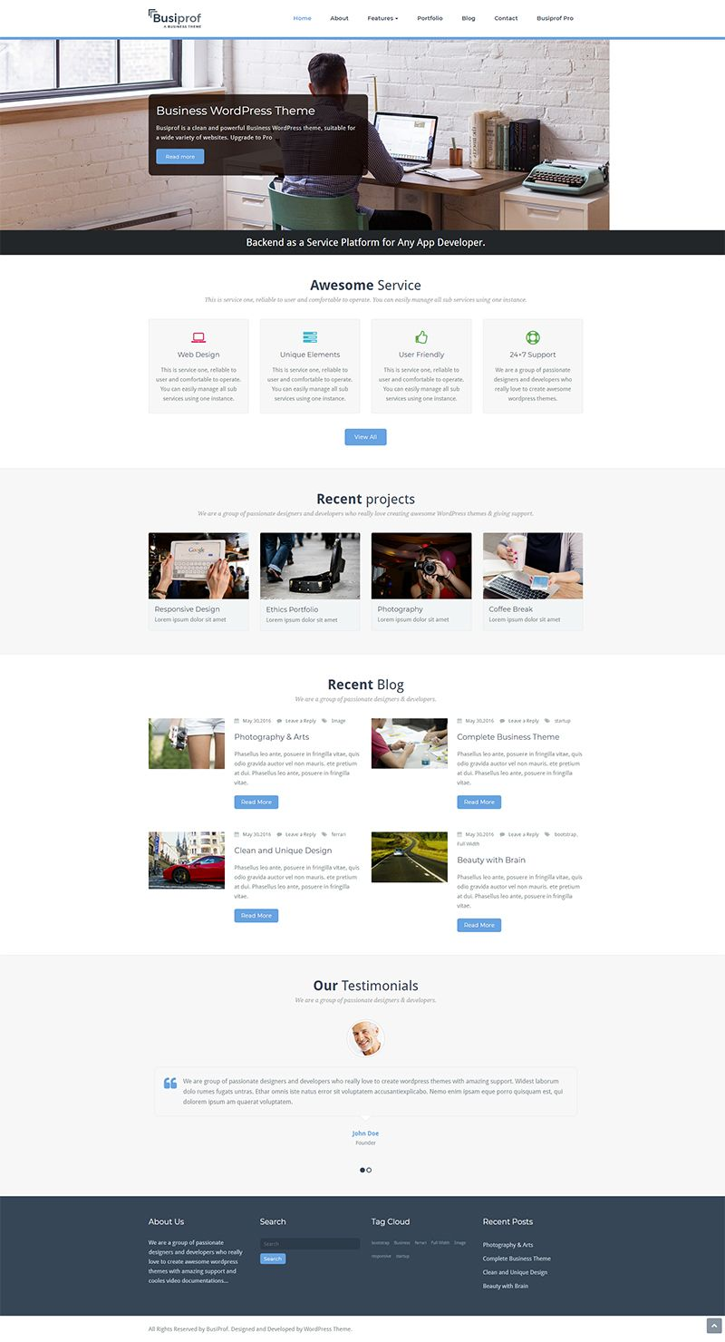 Top 20 Free Responsive WordPress Themes for Business | Top 20 Free