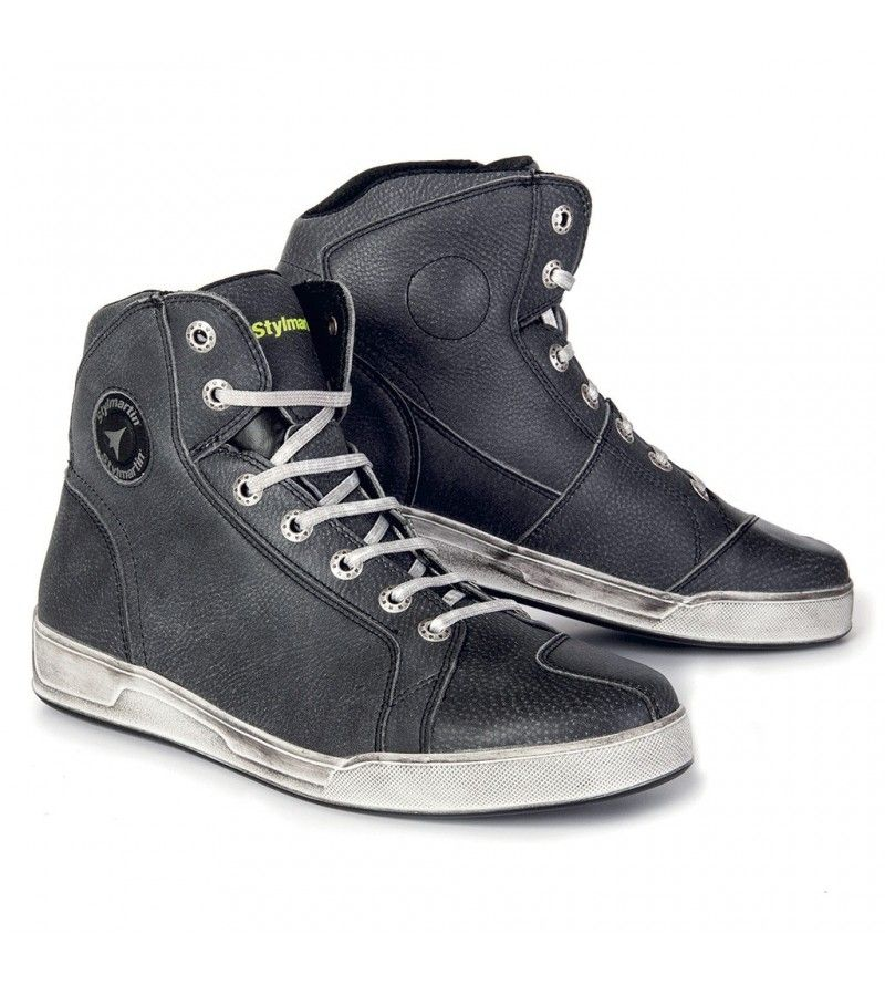 Baskets stylmartin chester noir | Chaussures moto, Bottes