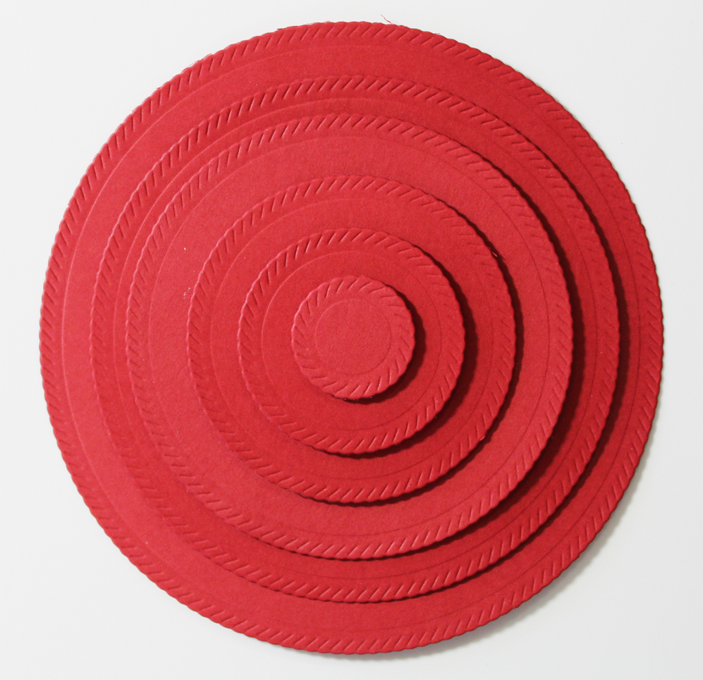 Embossed Mini Rope Nested Circle Dies By Kat Scrappiness Rope Design Kat Mini