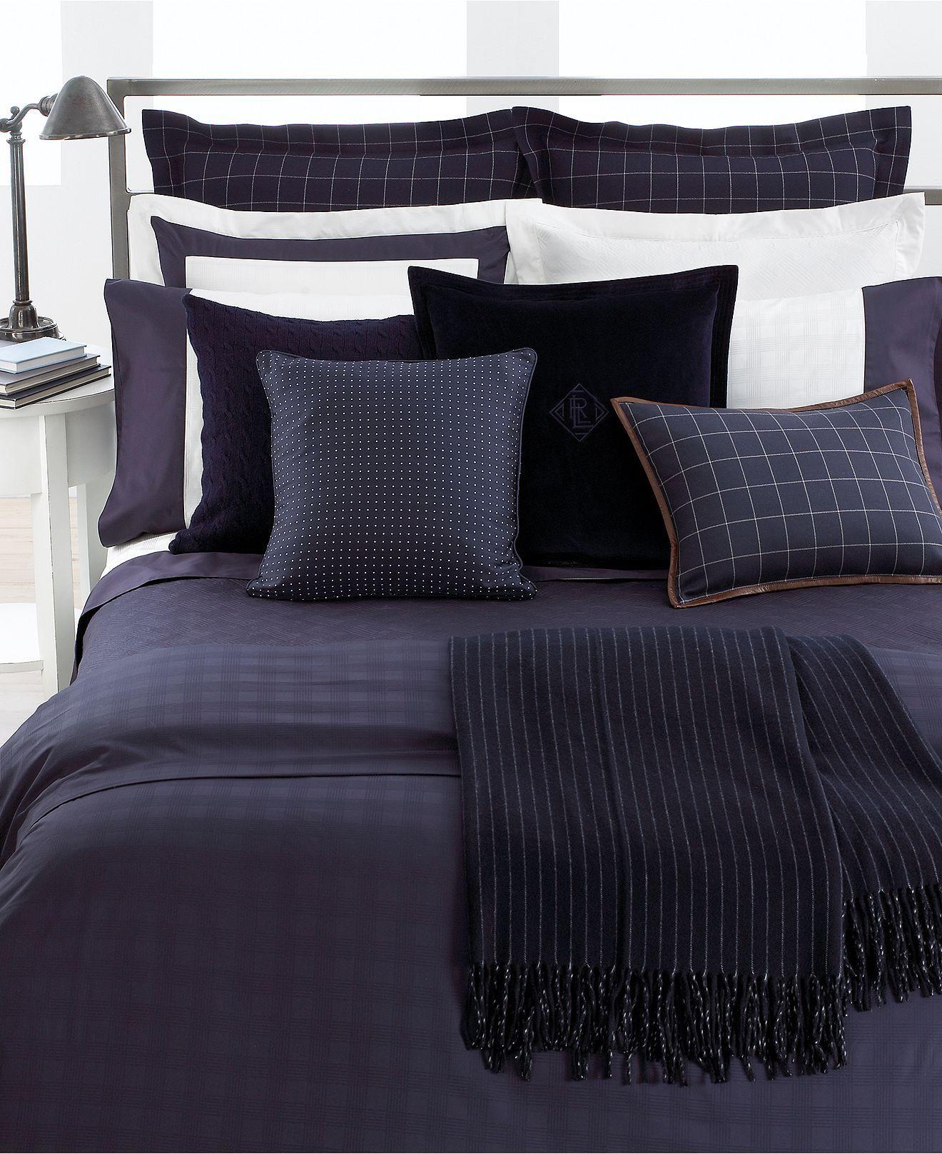 Lauren Ralph Lauren Bedding Navy Glen Plaid Suite Collection Bedding Collections Bed & Bath Macy s