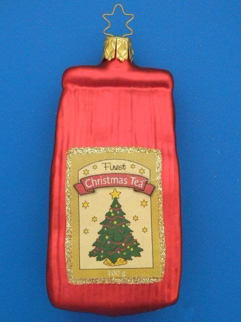 #2 INGE GLAS PILZ MUSHROOM GERMAN BLOWN GLASS CHRISTMAS TREE ORNAMENT CLIP ON