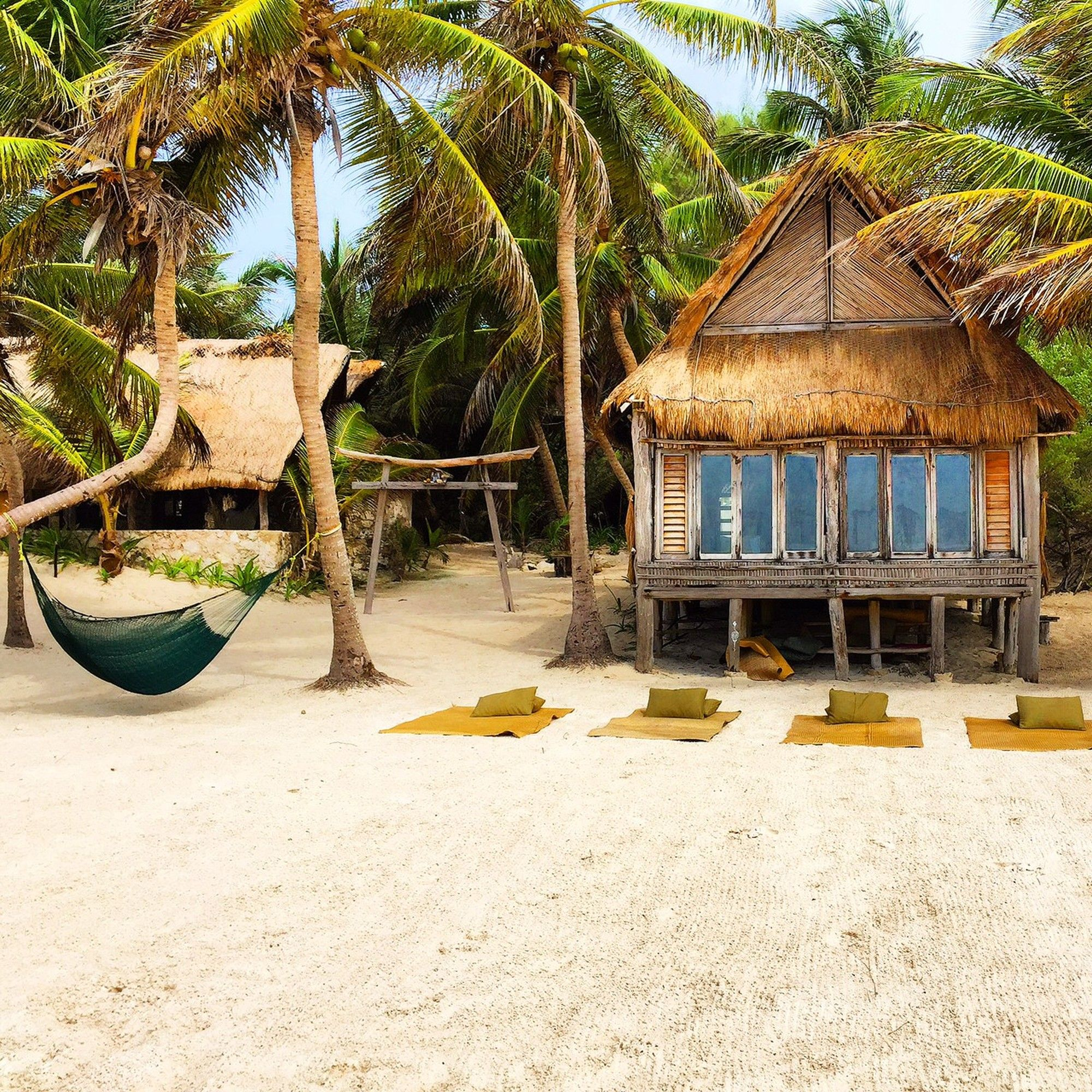 Tulum Beach Mexico Yoga Setup In 2019 Bungalows