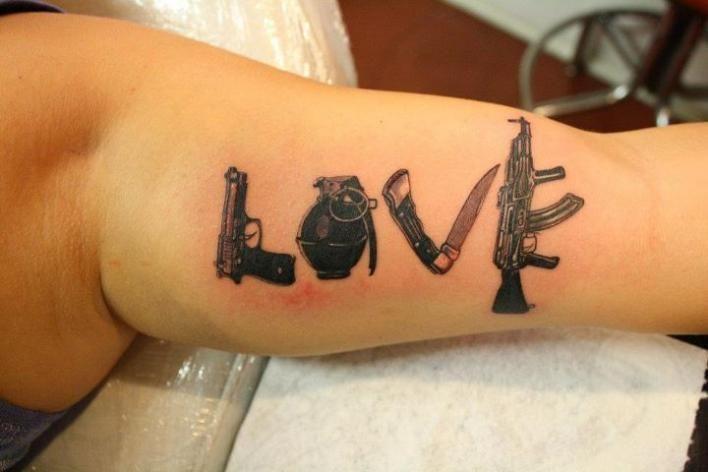 Love Is War Tattos Pinterest Tattoos Husband Tattoo And Army