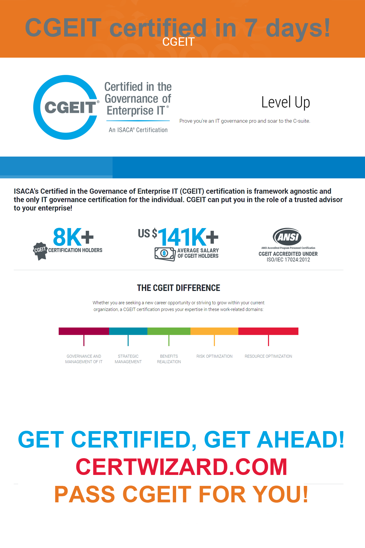 Cgeit Certified In The Governance Of Enterprise It With Certwizard Ccna Certs Cert