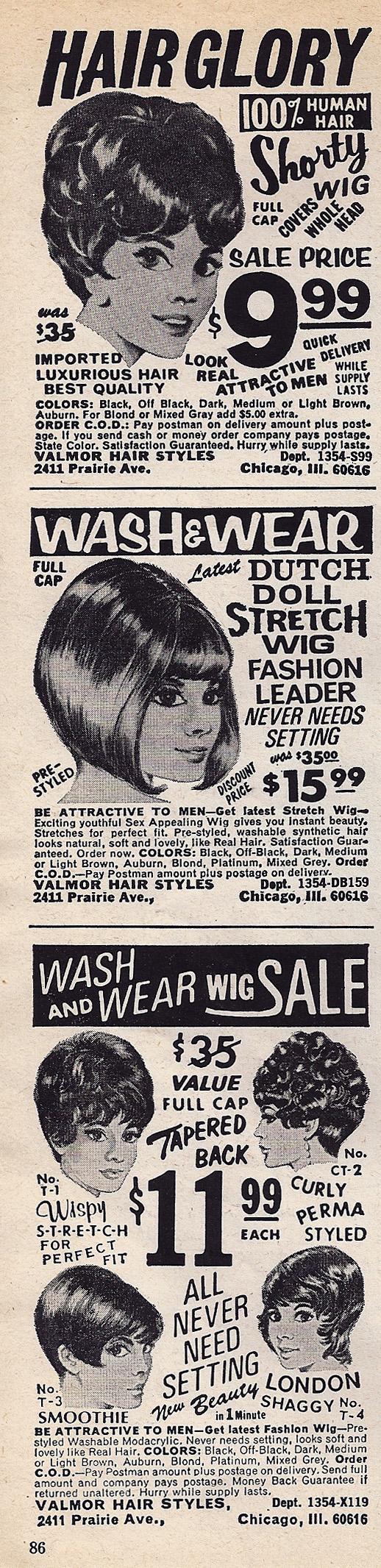 Vintage Advertisement Advertise Vintage Wigs Vintage