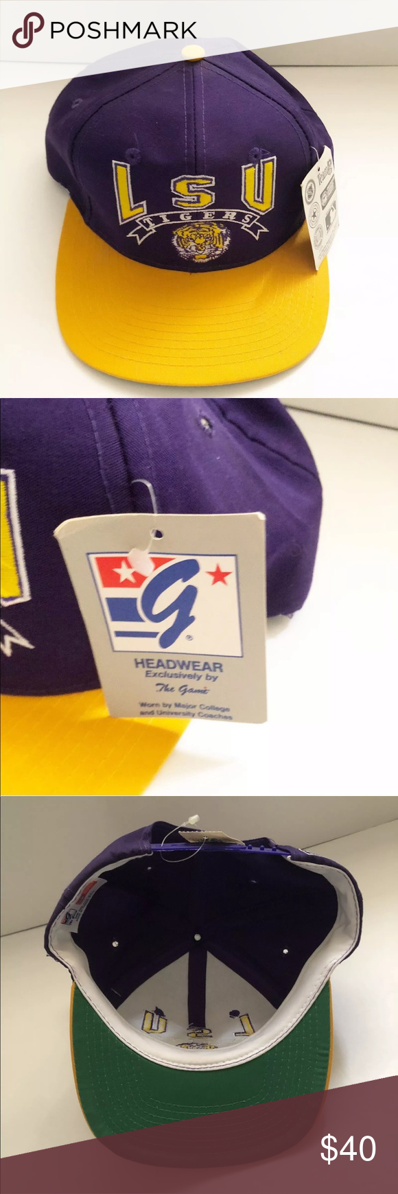 the latest b8006 c9ae2 Lsu Tigers 90s VIntage Snapback Hat Original Lsu Tigers 90s VIntage  Snapback Hat Original The Gamit Brand New With Tags NCAA the gammit  Accessories Hats