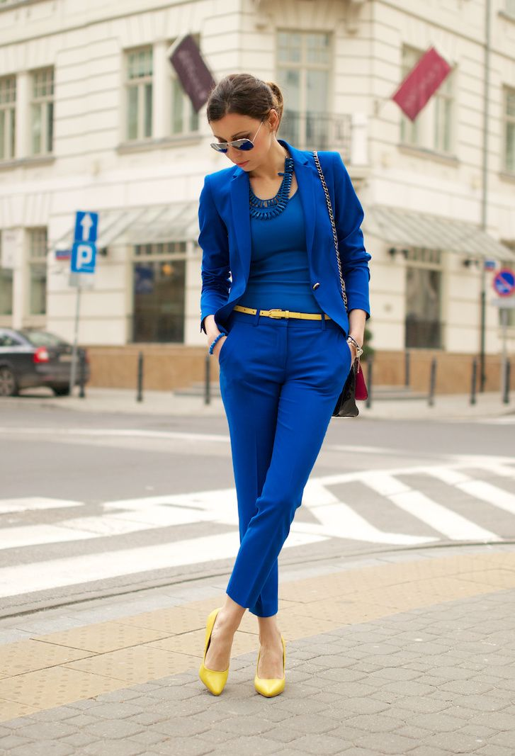 Outfit royal blue pants Men's Royal