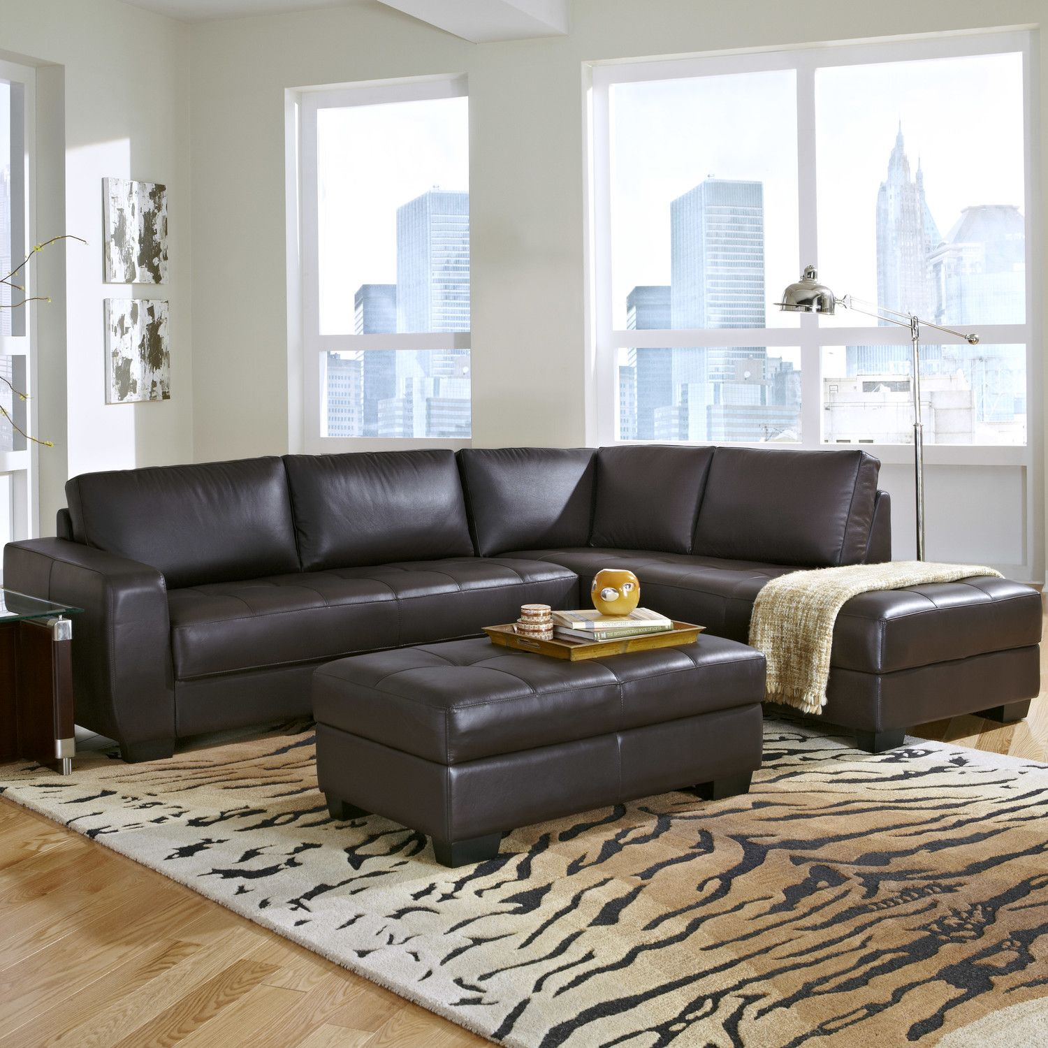 Captivating Lazzaro Leather Frandis Leather Sectional U0026 Reviews | Wayfair