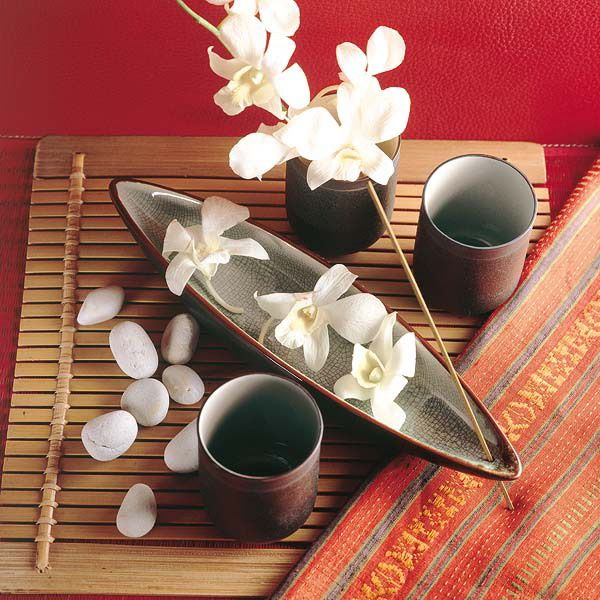 spa decorating table white orchid idea - Spa Decor