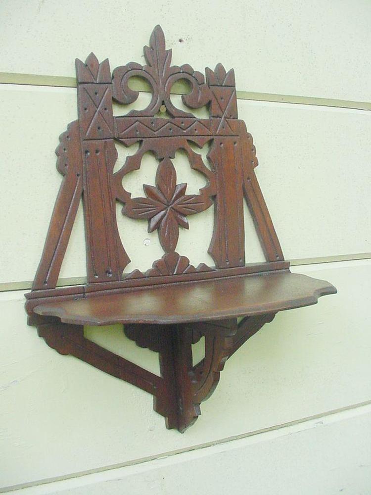 Antique Eastlake Walnut Wood Victorian Wooden Folding Wall