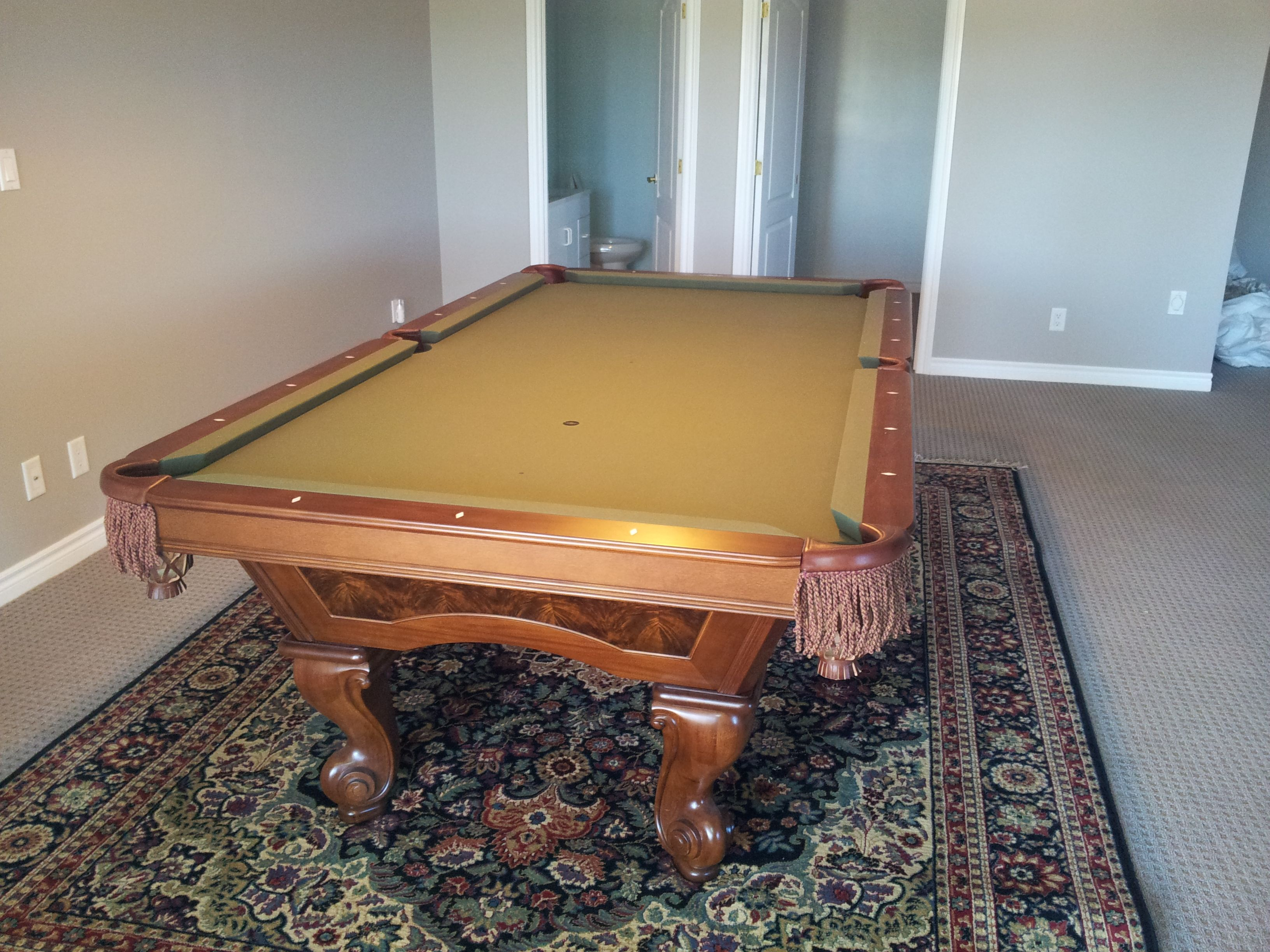 Brunswick Danbury Pool Table In Chestnut Finish. The Customer Recently Had  Us Dismantle The Table