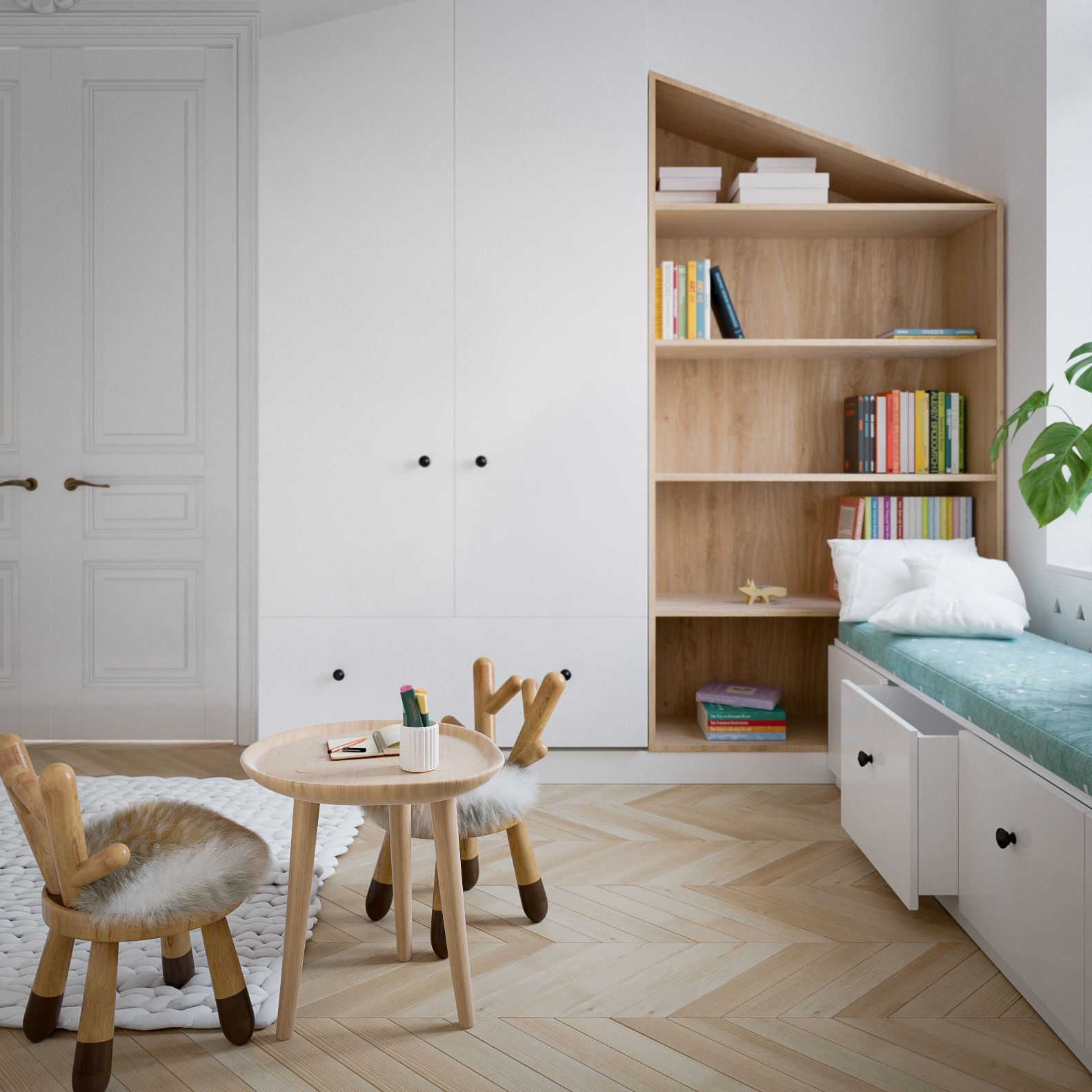 Modern Scandinavian Style Home Design For Young Families 2 Examples Furniture Bedroom Furniture Sets Stylish Bedroom Design