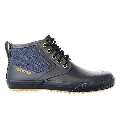 Tretorn Men S Gunnar Canvas Rain Boot Black 36 Eu 4 D Us
