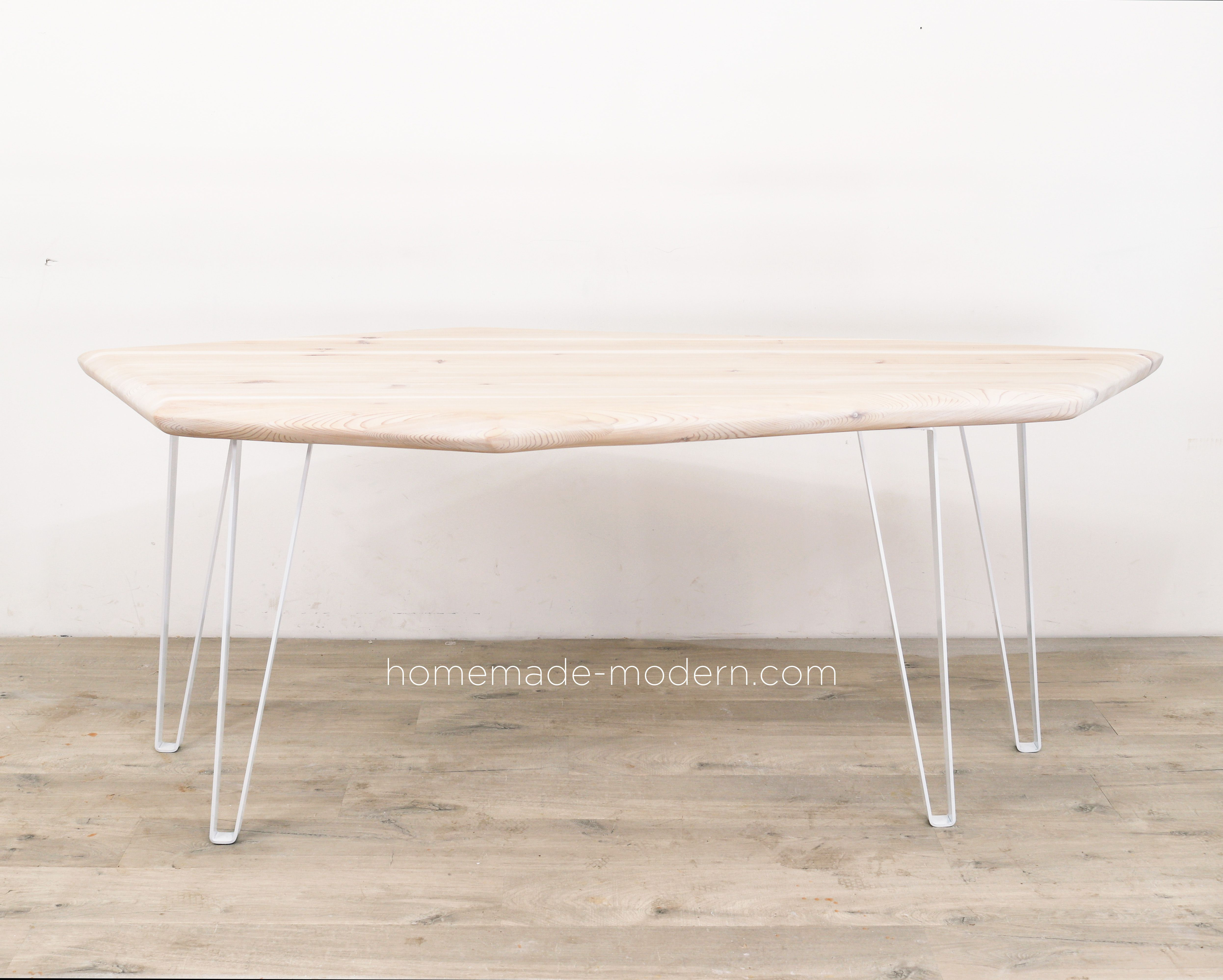 This Modern Geometric Dining Table Was Whitewashed And Made For A Shipping Container House For More In Live Edge Wood Dining Table Diy Dining Table Diy Dining [ 3992 x 4984 Pixel ]