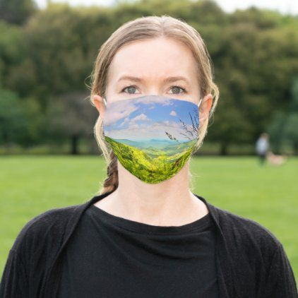 Blue Ridge Parkway Beautiful Spring Souvenir Cloth Face Mask | Zazzle.com