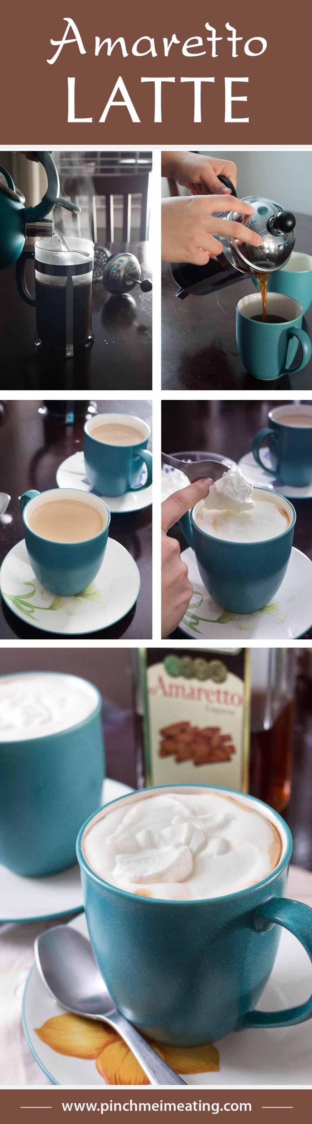 Amaretto latte pinch me im eating recipe coffee