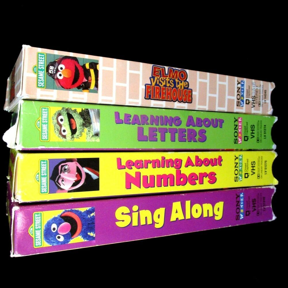 Sesame Street VHS Lot 4 Sing Along Learning About Numbers