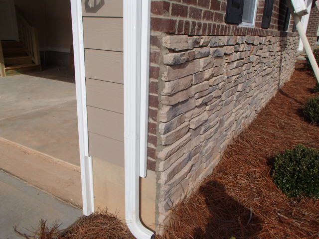 Stone Veneer Over Brick Exterior Home Design