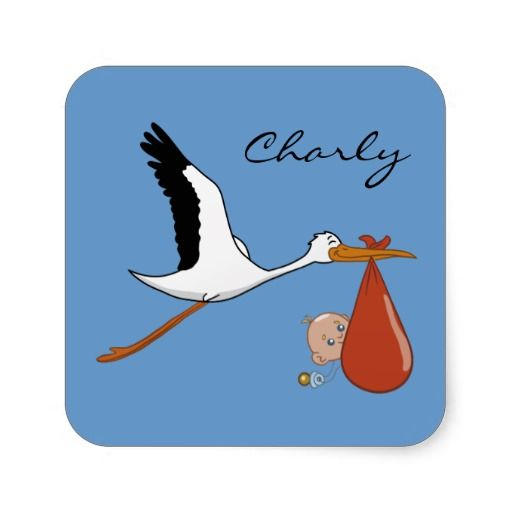Happy Stork Baby Stickers - may 5