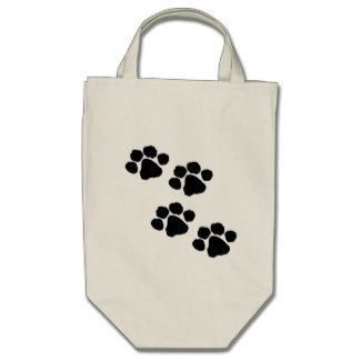 Paw Prints Canvas Bags Personalized Take It Shopping