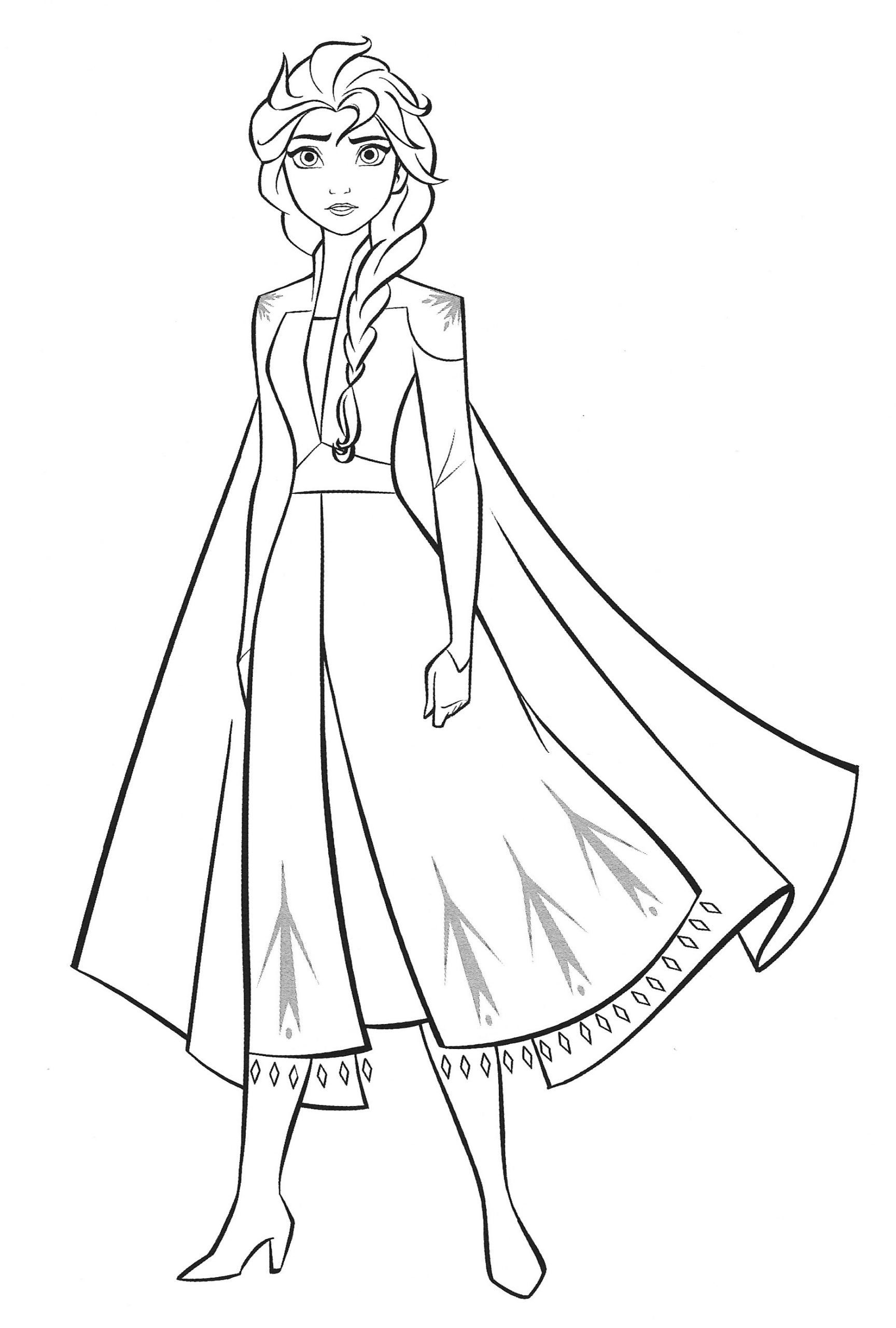 Anna Frozen Coloring Page New Frozen 2 Coloring Pages With Elsa Youloveit In 2020 Frozen Coloring Frozen Coloring Pages Disney Princess Coloring Pages
