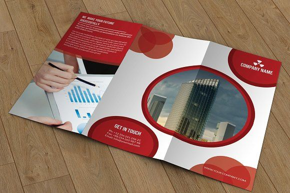 Trifold Corporate BrochureT By Template Shop On