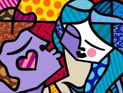 Google Image Result for http://www.artbrokerage.com/artthumb/britto_36546_2/850x600/Romero_Britto_Sweet_Kisses.jpg