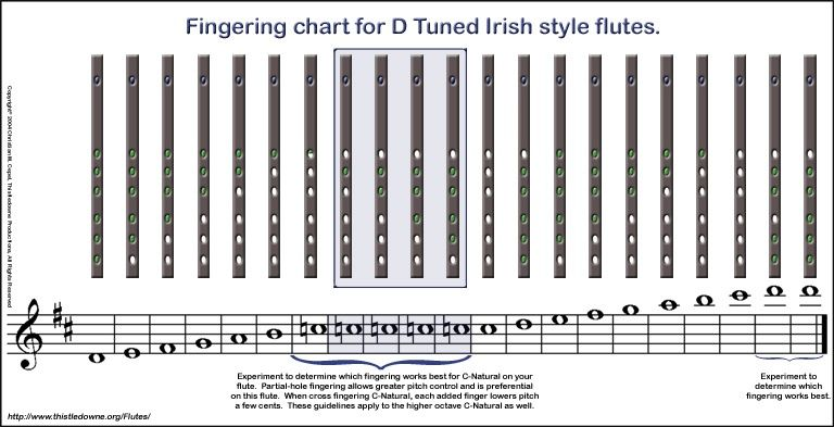 Fingering Chart for PVC Irish Flutes music related Pinterest
