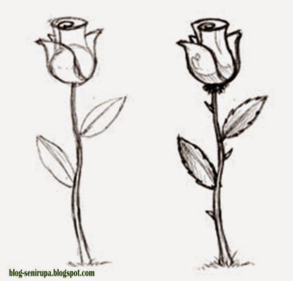 Cara Menggambar Flora Langkah demi Langkah | Seni rupa, Gambar ...