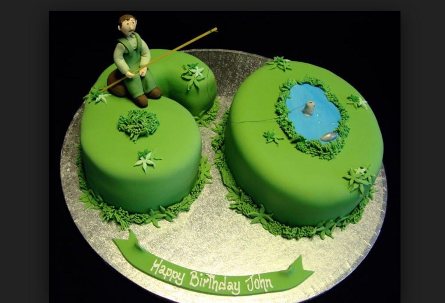 Fishing cake dads 60th birthday cake idea DADS BIRTHDAY